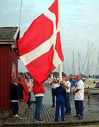 hoisting the danish Flag